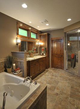 Double Sink Design Ideas, Pictures, Remodel, and Decor - page 52. Space for tall cabinet on one end?