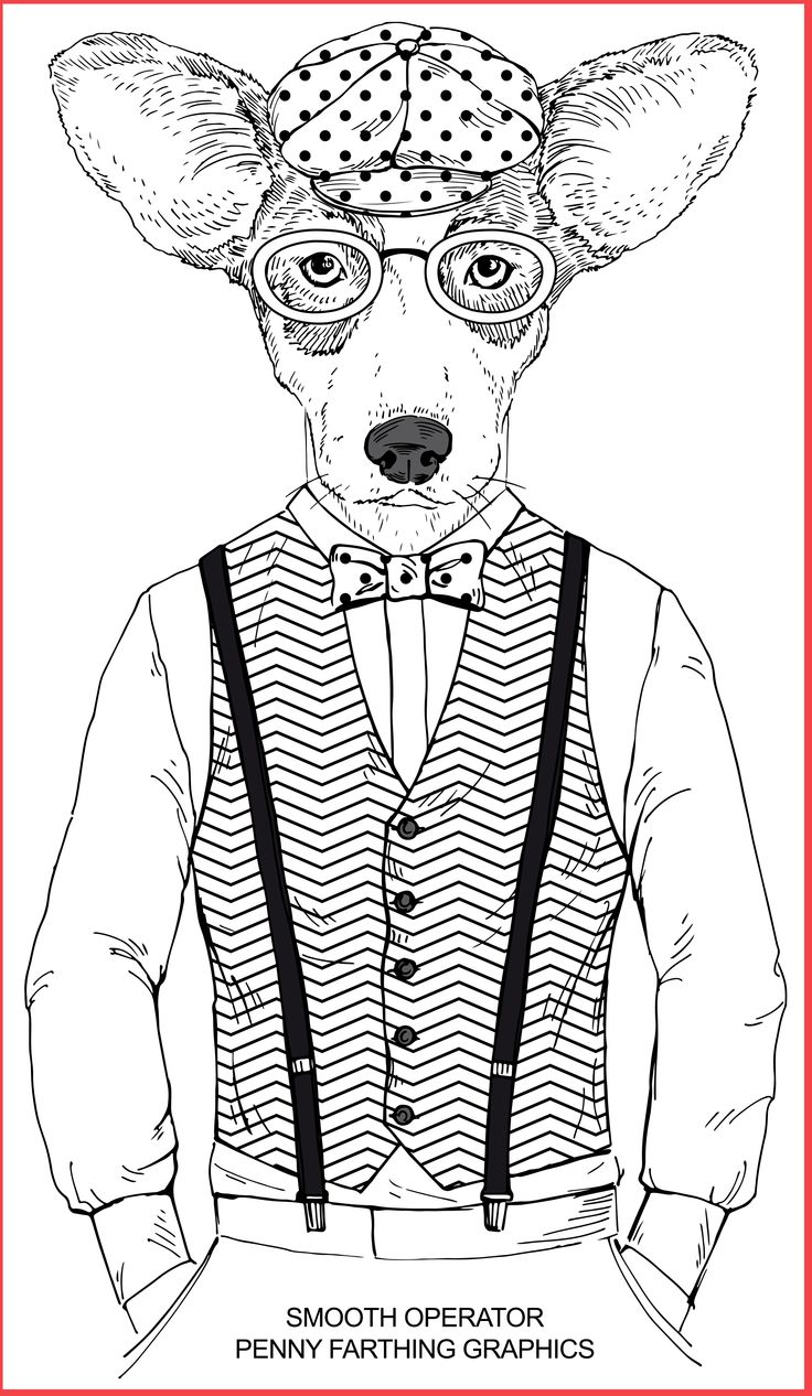 Dog From Smooth Operator Coloring BookAdult