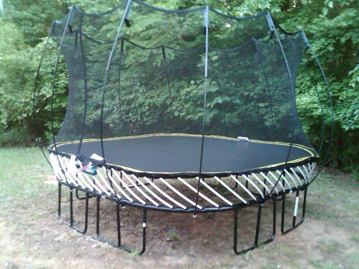 Springless trampoline completed!