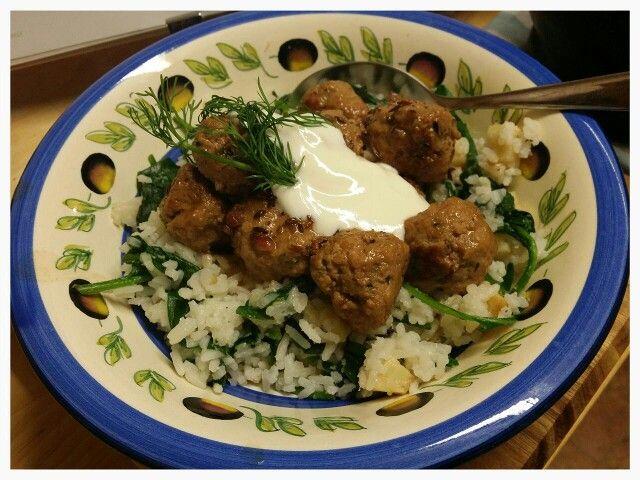 Swedish Meatballs; Celeriac & Spinach Rice - Jamie Oliver style!