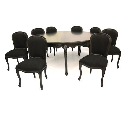 French Black Family 8 Seater Dining Table amp Chairs  : a1e0c658b32b942e0ef880c7c4158d85 from www.pinterest.com size 500 x 451 jpeg 16kB