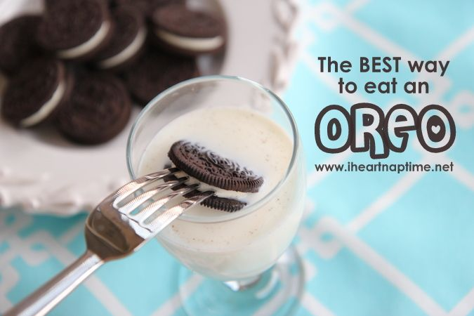 How to eat an Oreo.  Now I'm craving Oreos and milk!!