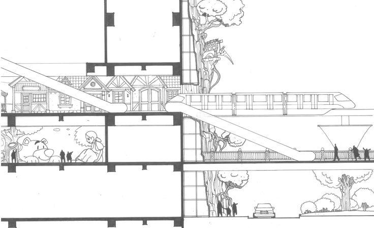 Indoor Themepark Monorail