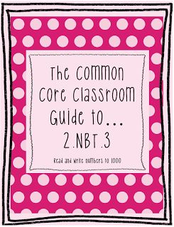 "The Best of Teacher Entrepreneurs: FREE MATH LESSON - ""The Common Core Classroom Guide to 2.NBT.3 Read and Write Numbers to 1000"""