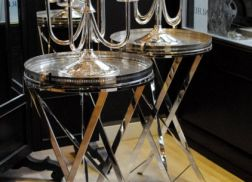 Extraordinary Art Deco silver plated tables