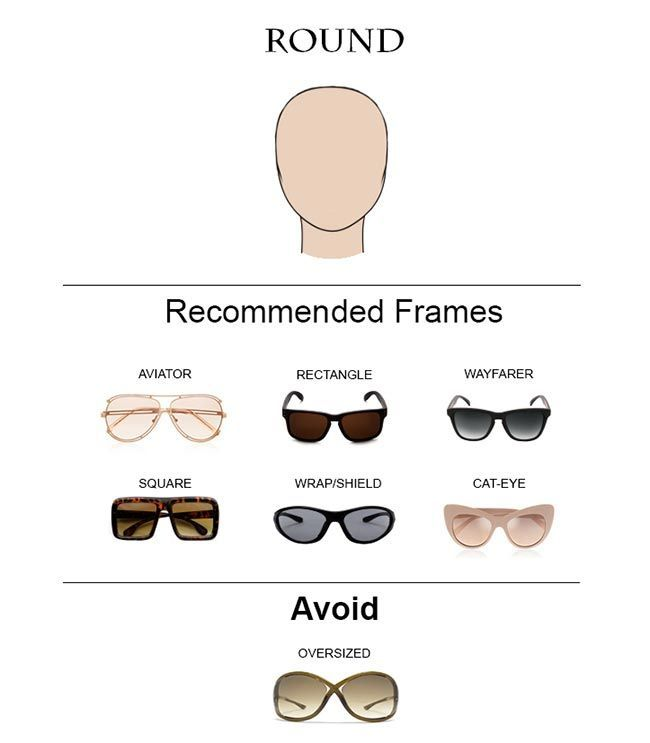 Sunglasses Frame For Round Face : 25+ best ideas about Round face shapes on Pinterest ...