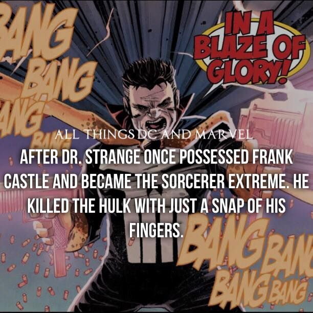 Dr. STRANGE POSSESSES THE PUNISHER  !!! ... KILLED THE HULK !!! °°