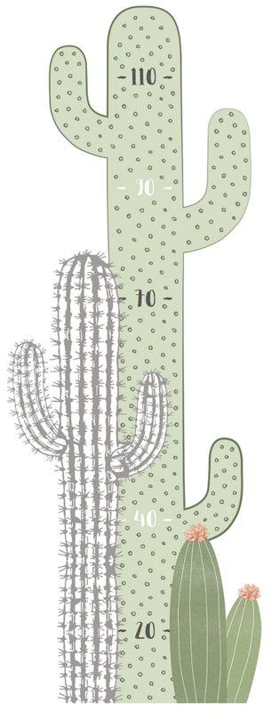 Lilipinso Wild West Muursticker Meetlat - Cactus nr 4 (S1298)