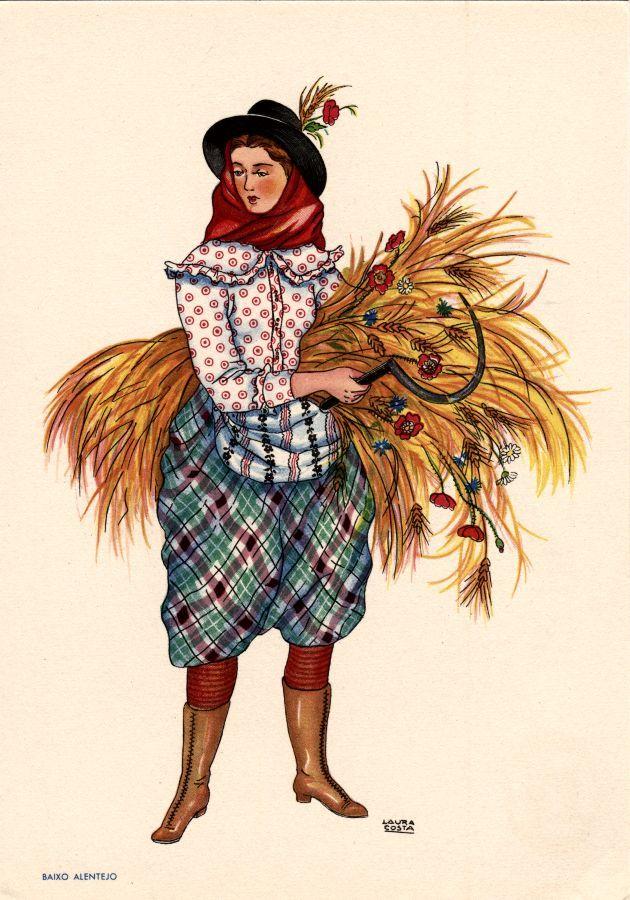 Portuguese traditional costumes of Baixo Alentejo