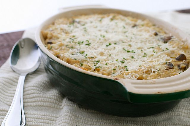 mushroom brown rice casserole by annieseats, via Flickr