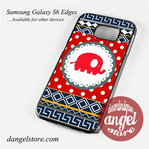 Cute Red Elephant Polkadots Aztec Phone Case for Samsung Galaxy S3/S4/S5/S6/S6 Edge Only $10.99