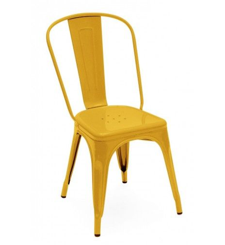 chaise a tolix jaune ral p93 01 b no place like home pinterest chairs yellow and ps. Black Bedroom Furniture Sets. Home Design Ideas