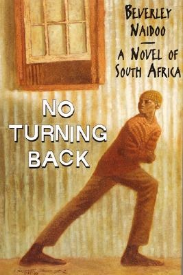 No Turning Back, by Beverley Naidoo 9 ex This title is set in South Africa in the 1990s, a time when an increasing number of young black South Africans are dealing with the violence, the legacy of disrupted schooling and the continued struggle for survival. The story focuses on one boy's struggle for survival as he leaves the violence of his home and joins a gang of children living on the streets.  http://files.harpercollins.com/PDF/TeachingGuides/0064461696.pdf.