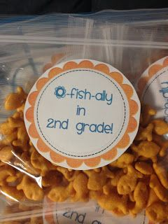 O-fish-ally in Second Grade back to school treat