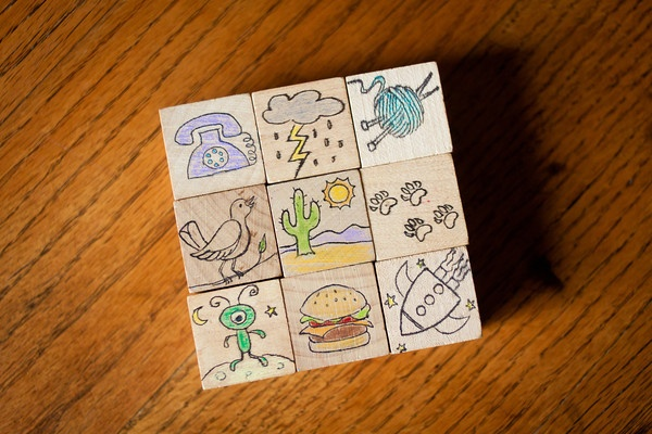 Homemade story cubes