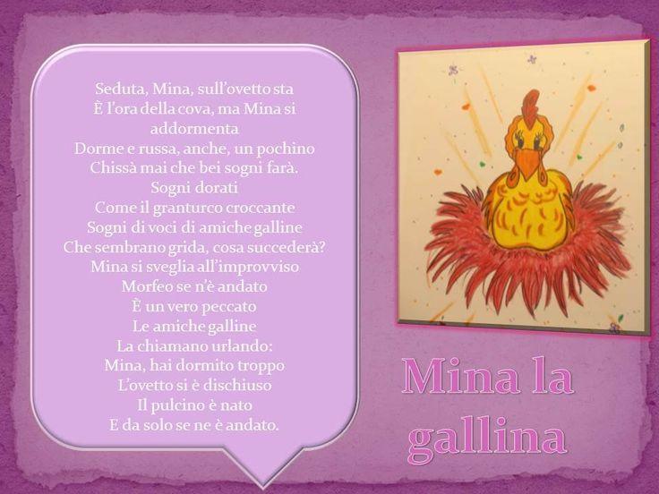 MINA, LA GALLINA AMICA ....