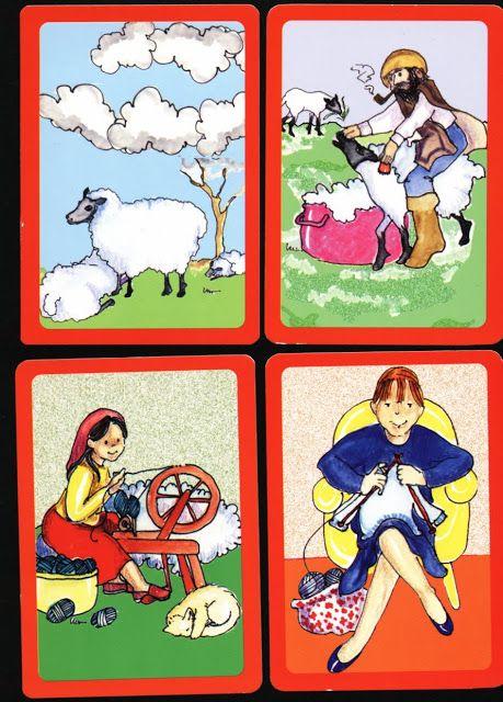 Print, knip uit en leg in de goede volgorde, thema schapen voor kleuters