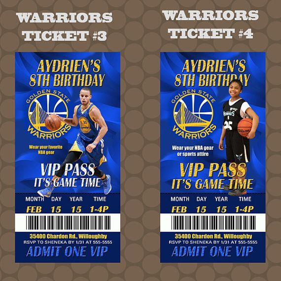 Golden State Warriors Basketball Birthday Party by KDesigns2006