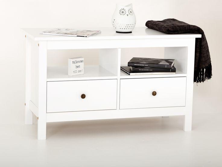 TYRINGE TV-bänk 102 Vit - TYRINGE har en stilren och tidlös design som med sina rena linjer passar i alla miljöer.