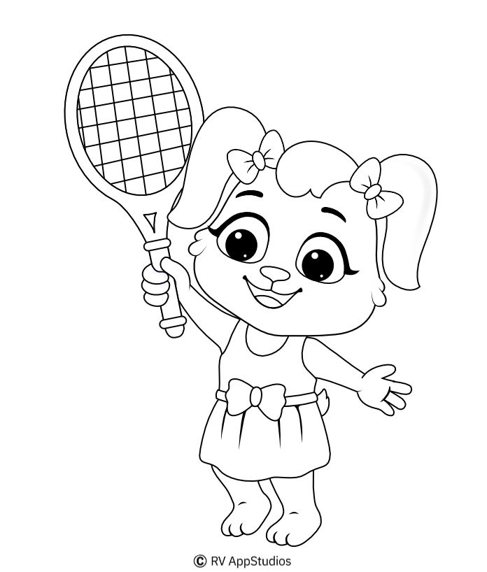 Tennis Coloring Page Free Coloring Pages In 2020 Sports Coloring Pages Coloring Pages Free Coloring Pages