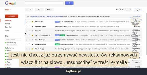 Jak pozbyć się spamu? -