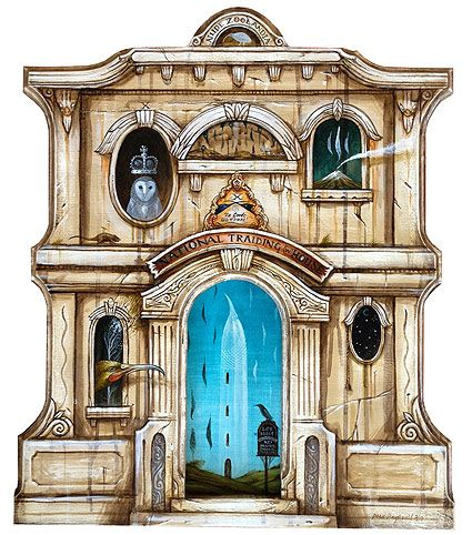 dean raybould nz surrealist artist, wall cut-out paintings