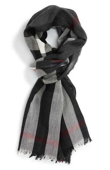 Burberry Check Wool & Cashmere Scarf available at #Nordstrom