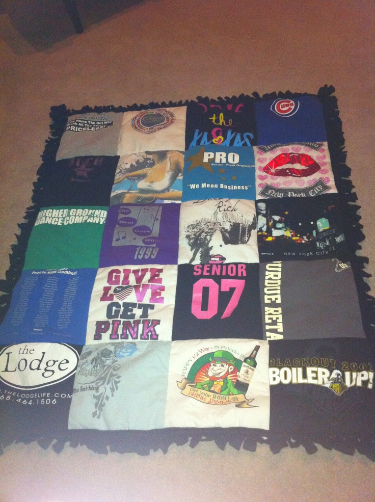 76 best T-shirt quilts images on Pinterest | Blanket, Colleges and Dyi : college quilt patterns - Adamdwight.com