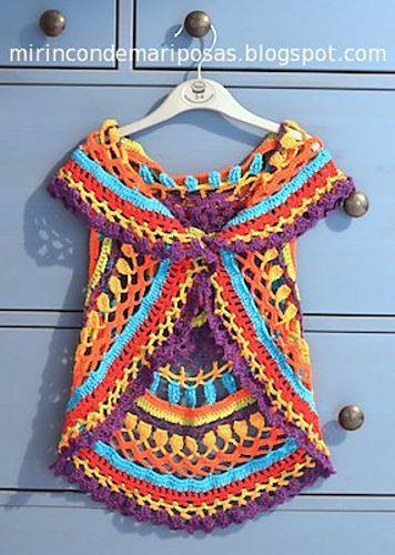 Free Ravelry: Chaleco circular pattern by Mi rincón de mariposas