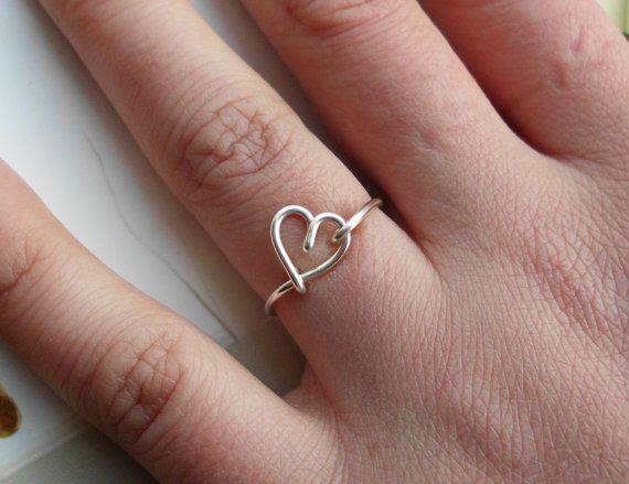 Diy Heart Midi Ring
