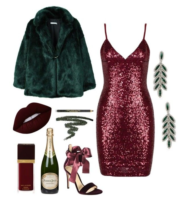 """Untitled #481"" by milli927 on Polyvore featuring Forever 21, Gianvito Rossi, MANGO, Perrier-Jouët, Lime Crime, Estée Lauder and Tom Ford"