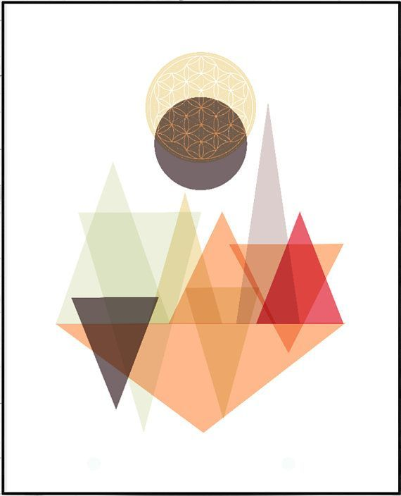 Geometric Art Abstract Poster Flower Of Life by LeelaPrintableArt