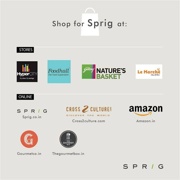 From the shelf, to your kitchen - discover a world ofgourmet ingredients, not too far from home. Shop for your favourite Sprig products online or at your favourite supermarket. To know more: https://www.sprig.co.in/ #SprigGourmet #Stores #Onlineorder
