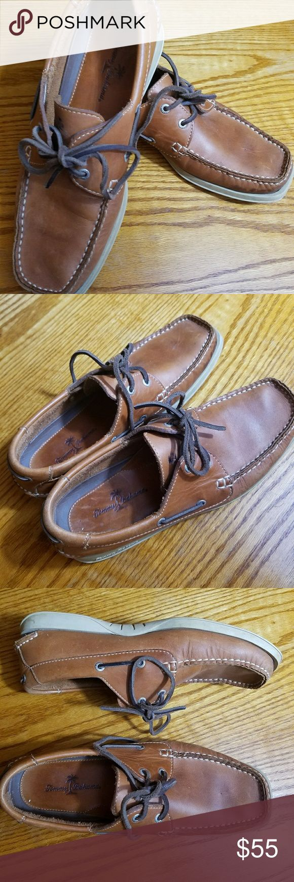 Tommy Bahamas Leather Boat shoe loafers Size 8 These are in excellent shape. Size : Mens 8 Leather boat shoes by Tommy Bahama Quality shoe all around.  Leather in great condition too Tommy Bahama Shoes Flats & Loafers