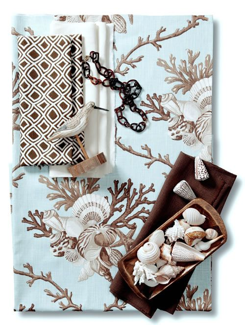 calico corners fabric browns | Maybe something like this from Calico Corners. The brown fabric looks ...