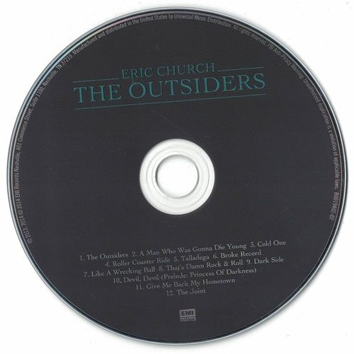Eric Church The Outsiders 2014 CD Professionally Cleaned