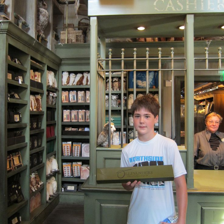 Choosing your wand at The World of Harry Potter at Universal Studios Orlando