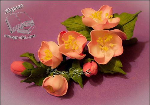 Цветы яблони или яблоневый цвет своими руками из фоамирана Весна прекрасное время года, она способна завораживать и возрождать жизнь. Главную роль весной и