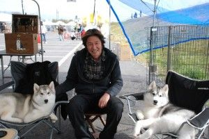 This is Yuji Yatake. He is a Siberian Husky breeder, and runs Arrow Bamboo Siberians. He was the first person to register Siberian Huskies at the Japan Kennel Club. He is one of the premier breeders of Siberian Huskies in Japan, and director of the Siberian Husky Club of North Osaka.