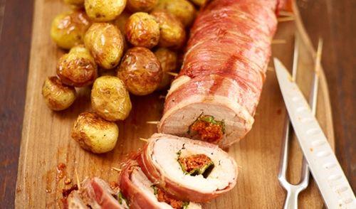 Malse Gevulde Italiaanse Varkenshaas Van Jamie recept | Smulweb.nl