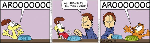 Garfield Cartoon for Jan/15/2014