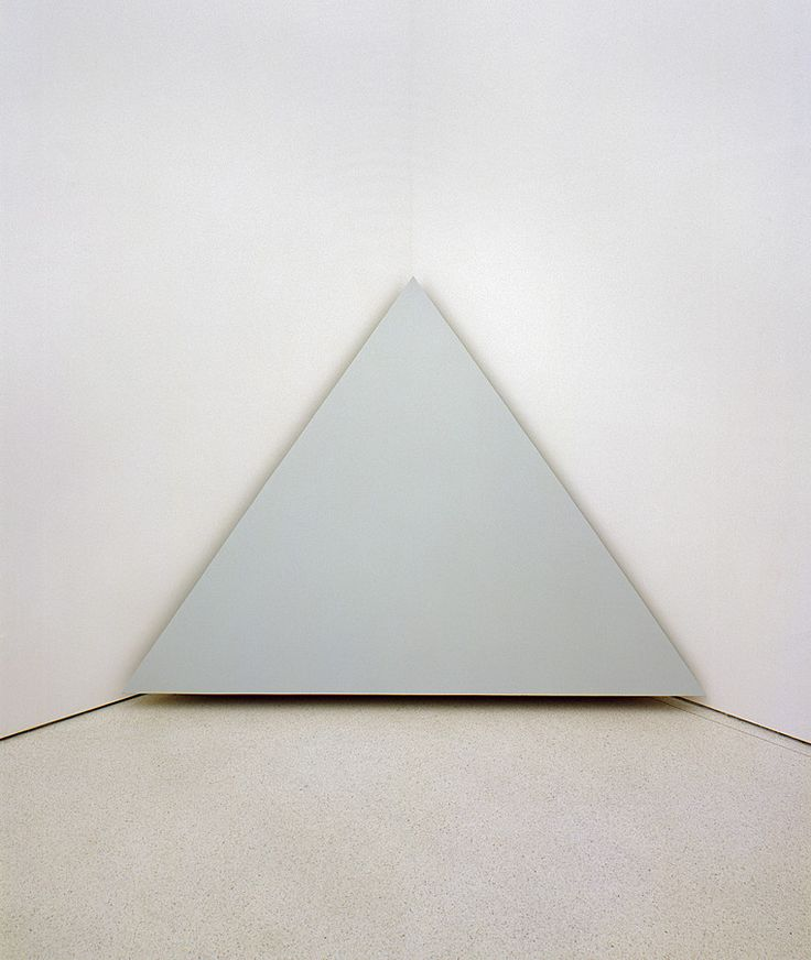 Robert Morris, Untitled (Corner Piece), 1964, Painted plywood, 78 x 108 inches,  Solomon R. Guggenheim Museum, New York Panza Collection, 1991