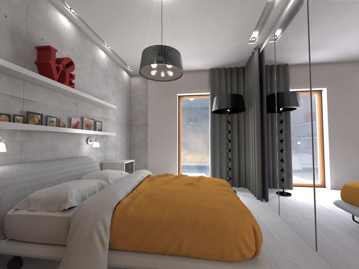 Nowoczesna sypialnia.
