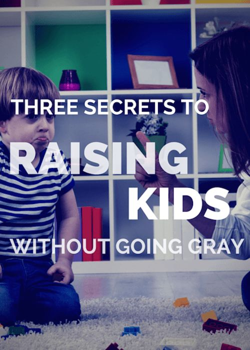 3 Secrets To Raising Kids Without Going Gray: Want to give your child a good start in life? Of course you do! Here are 3 secrets to raising kids without going gray in the process. #RaisingKids #ParentingTips #CanvasFactory