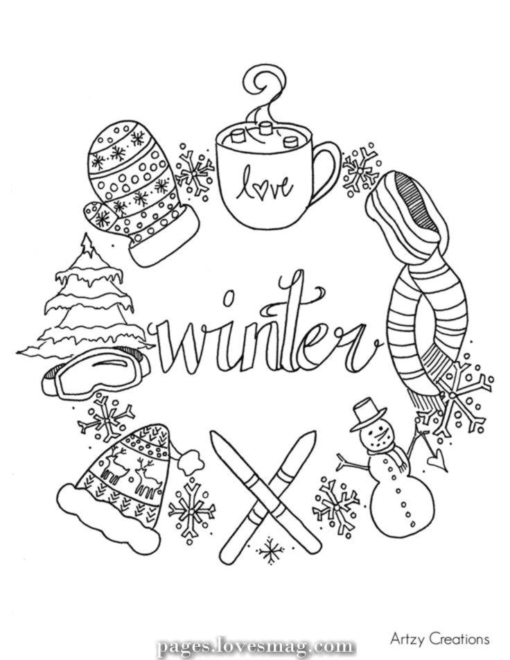 Free Winter Coloring Web Page Artzy Creations Web Page Jpg 1 0 1