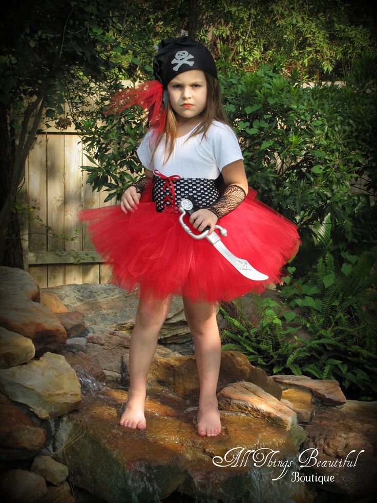 Pirate Girl Red Halloween Costume Pirate Costume Pirate Girl Outfit = Makena