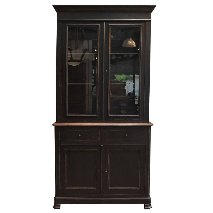 1900s French Solid Oak Bookcase Cabinet | From a unique collection of antique and modern vitrines at https://www.1stdibs.com/furniture/storage-case-pieces/vitrines/