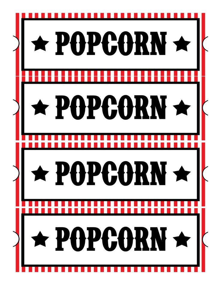 popcorn sign printable | Free Printable Movie Ticket Invitations ...