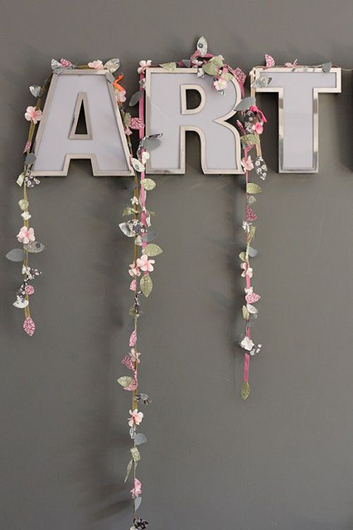 25  best ideas about ribbon garland on pinterest