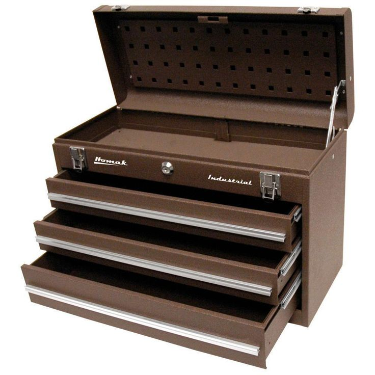 "Homak 20"" Industrial 3 Drawer Friction Toolbox"